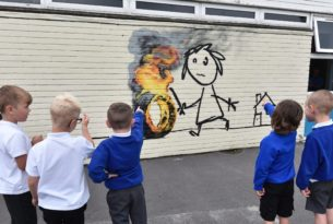 Bridge Farm Primary School Banksy mural