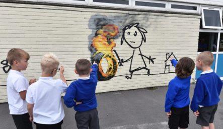 Bridge Farm Primary School Banksy mural